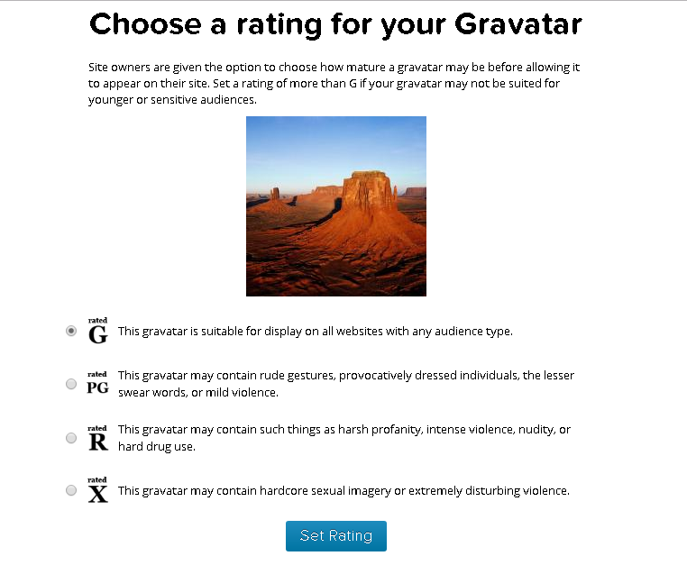 Choose rating